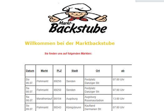 Marktbackstube poster