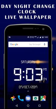 Day night changing clock live wallpaper screenshot 4