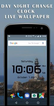 Day night changing clock live wallpaper screenshot 1