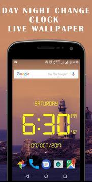 Day night changing clock live wallpaper screenshot 3