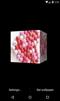 Valentine 3D Cube LWP apk screenshot