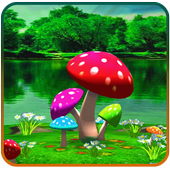 3D Mushroom Live Wallpaper icon