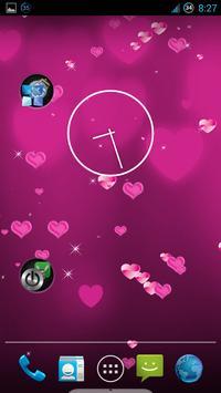 Pink Heart Live Wallpaper poster