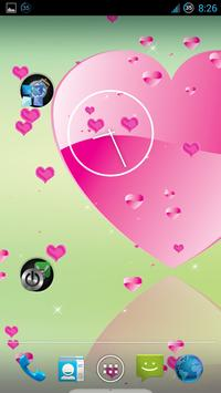 Pink Heart Live Wallpaper screenshot 1