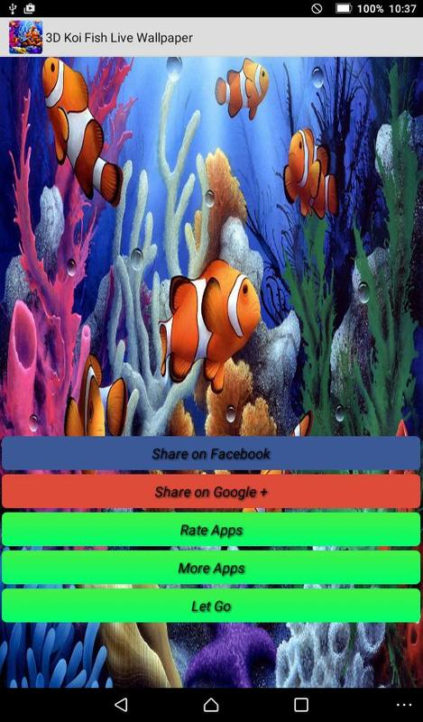 koi fish live wallpapers apk download free