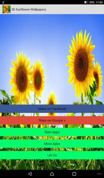 Sunflower Live Wallpapers screenshot 4