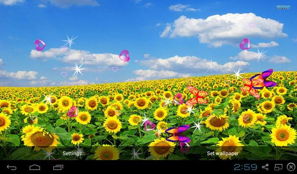 Sunflower Live Wallpapers screenshot 7