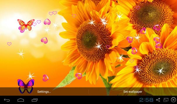 Sunflower Live Wallpapers screenshot 1