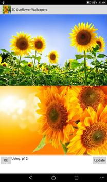 Sunflower Live Wallpapers screenshot 2