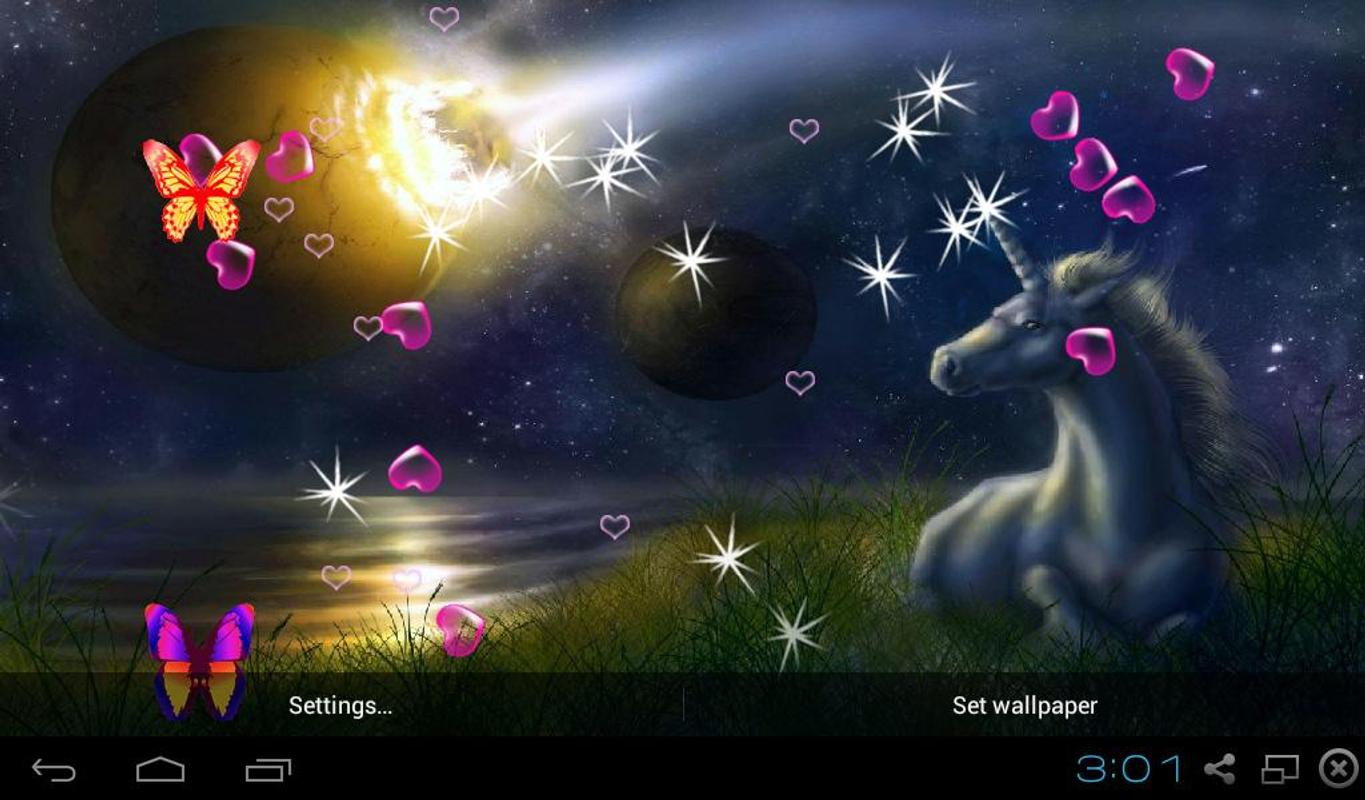 3d Live Wallpapers Free Download For Ipad: 3D Unicorn Live Wallpapers APK Download