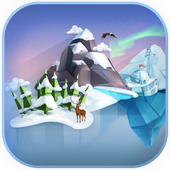 Cube winter icon