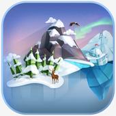 Cube winter icon
