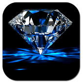 Falling diamonds 3D icon