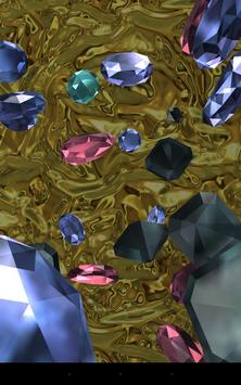 Falling diamonds 3D poster