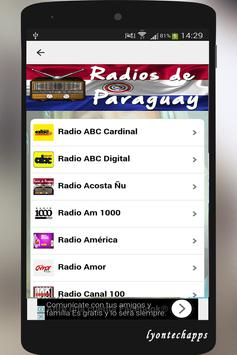 Radios de Paraguay screenshot 1