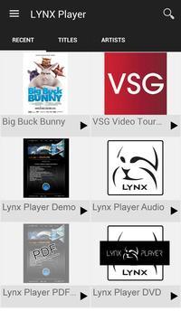 LYNX Player apk screenshot