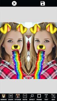 Photo Editor Selfie Camera Filter & Mirror Image apk screenshot