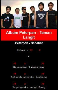 Lyric dan Chord Gitar Peterpan apk screenshot