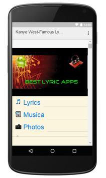 Kanye West-Famous Lyrics screenshot 2