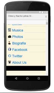 Chino y Nacho Letras Musica screenshot 3