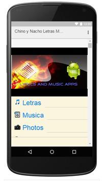 Chino y Nacho Letras Musica screenshot 2