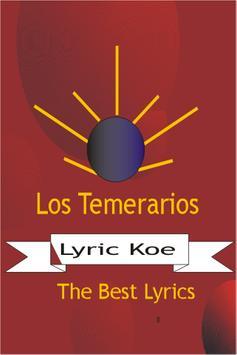 Los Temerarios Letras apk screenshot
