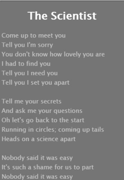 The Scientist Lyrics Coldplay For Android Apk Download
