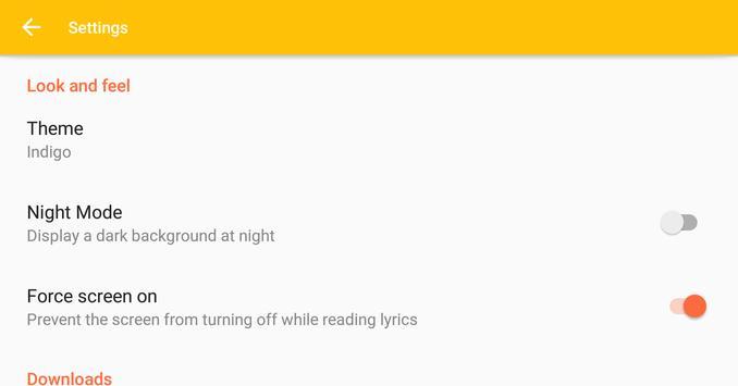 Chink Lyrics apk screenshot