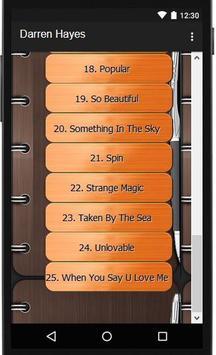 Darren Hayes Lyric Songs apk screenshot
