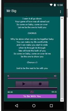 Mr Big Lyrics Music apk screenshot