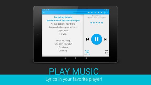 Lyrics screenshot 8