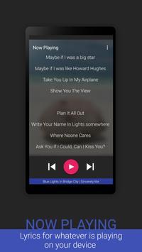 Lyrics screenshot 1