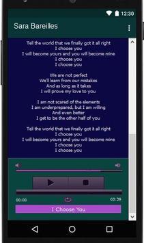 Sara Bareilles Lyrics Music apk screenshot