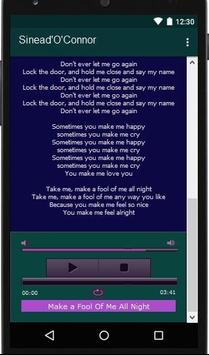 Sinead'O'Connor Lyrics Music screenshot 3