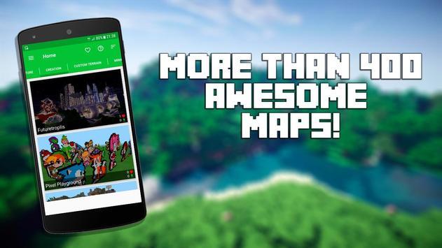 Mapas para Minecraft PE Poster