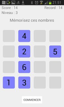 numemory : I test my memory ! apk screenshot