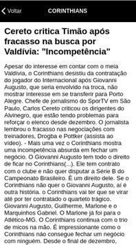 Corinthians Notícias screenshot 1