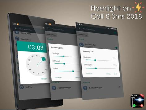 Flashlight on Call & Sms 2018 screenshot 4