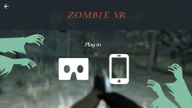 Zombie VR poster
