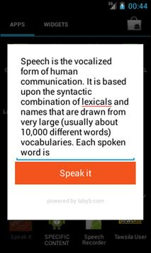 Speak It apk screenshot