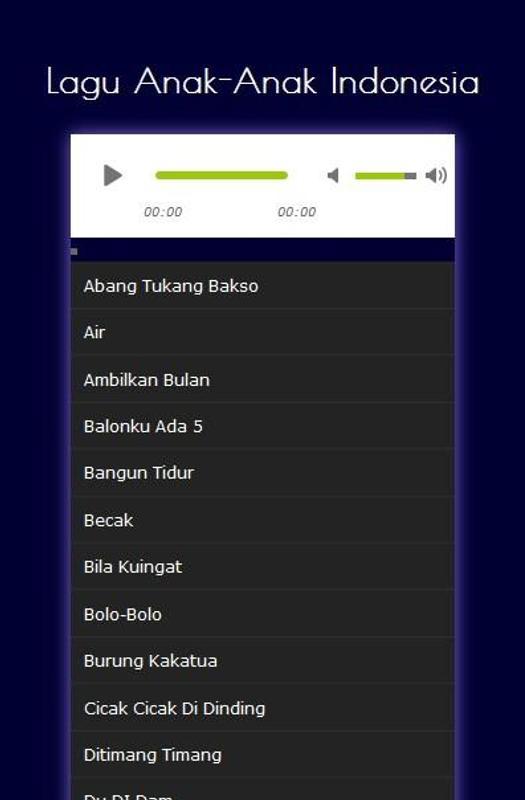 Lagu Anak Terlengkap Mp3 For Android Apk Download