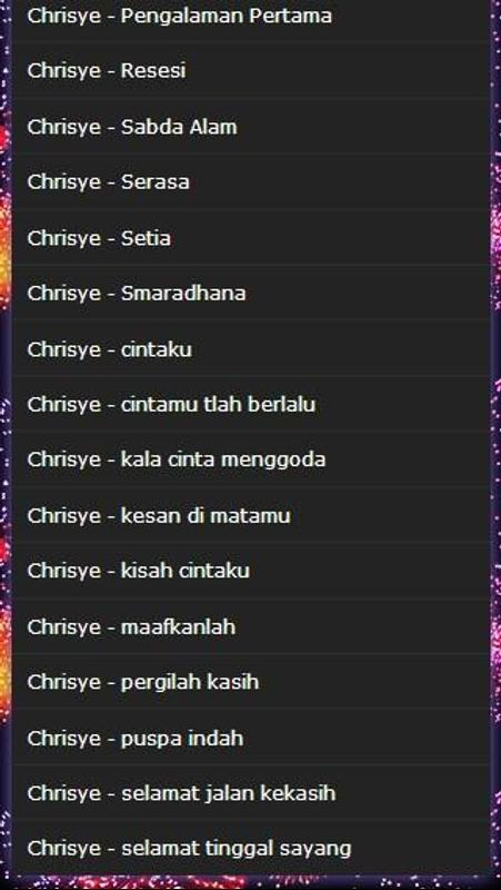 Song chrisye full mp3 for android apk download.