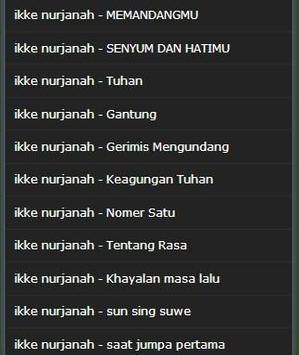 old song ikke nurjanah complete apk screenshot