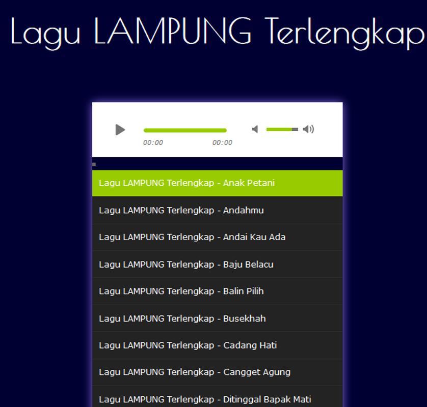 Lagu Lampung Terbaik Mp3 poster Lagu Lampung Terbaik Mp3 screenshot 1 ... 2ec3d426c9