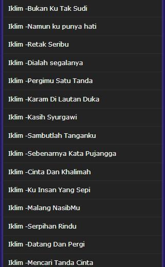 Lagu Malaysia Iklim Band Terpopuler For Android Apk Download