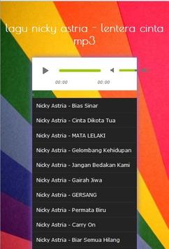lagu nicky astria - lentera cinta mp3 screenshot 2