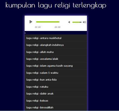 lagu religi poster