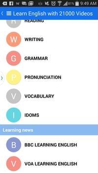 Learn English by 21000 Videos apk screenshot