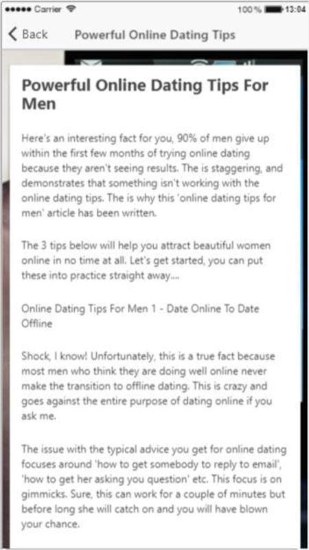 advice on dating online speed dating zittau