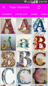 Quilling Paper Alphabets poster